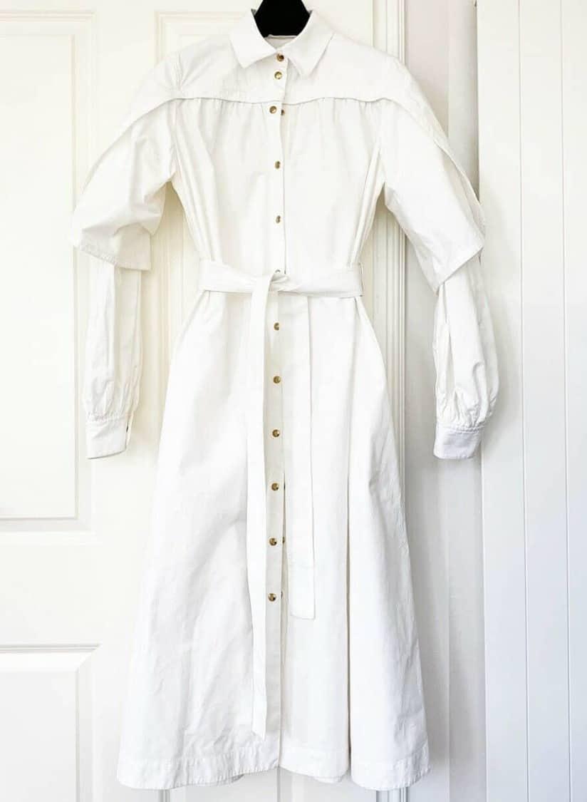CELINE WHITE SHIRT DRESS