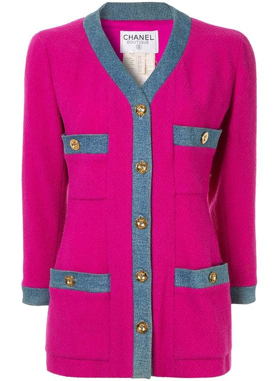 Chanel Pre-Owned 1980s CHANEL Long Sleeve Coat Jacket