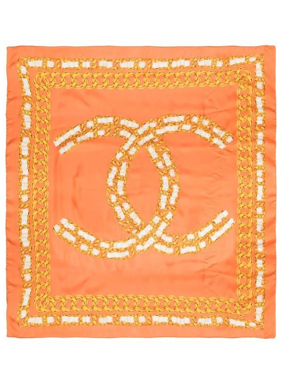 Chanel Pre-Owned 1990s chain-link Print Scarf