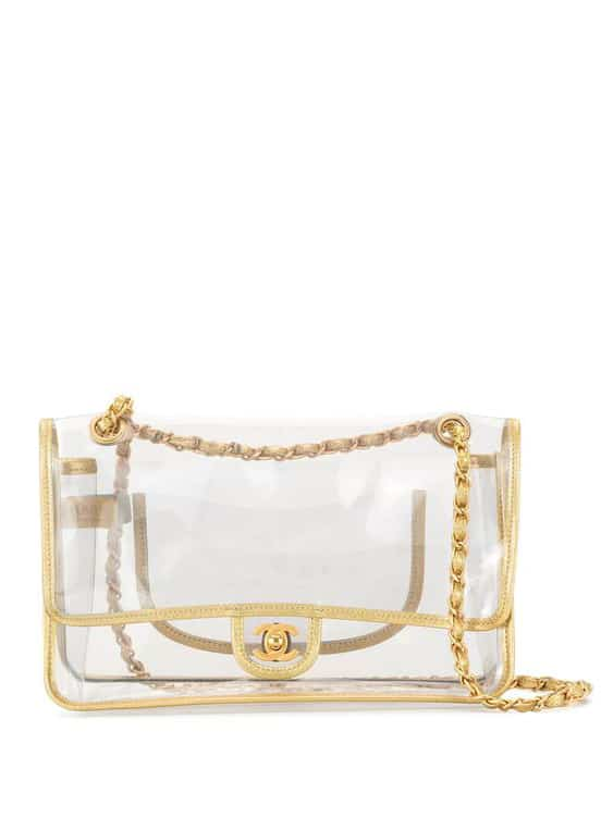 Chanel Pre-Owned 2007 clear double chain shoulder bag