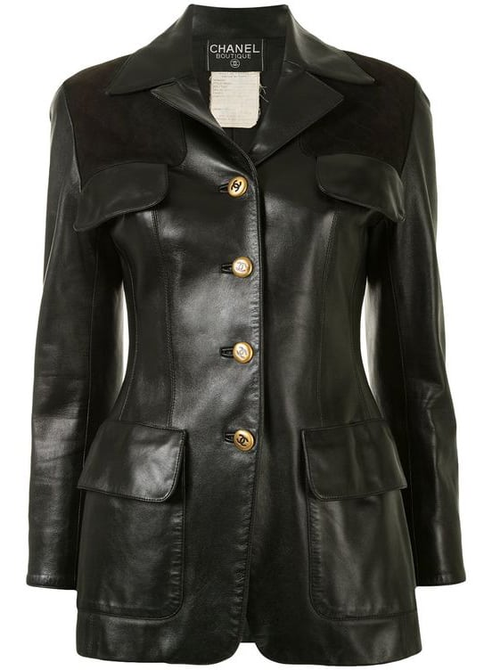 Chanel Pre-Owned CC Long Sleeve single-breasted Leather Jacket