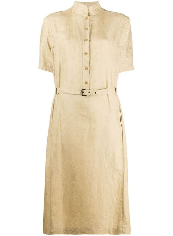 Christian Dior 1980s pre-owned belted dress