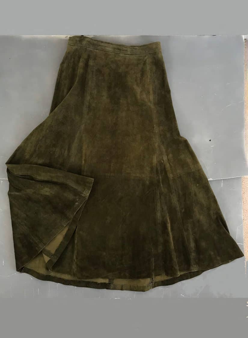 GREEN SUEDE SKIRT copy