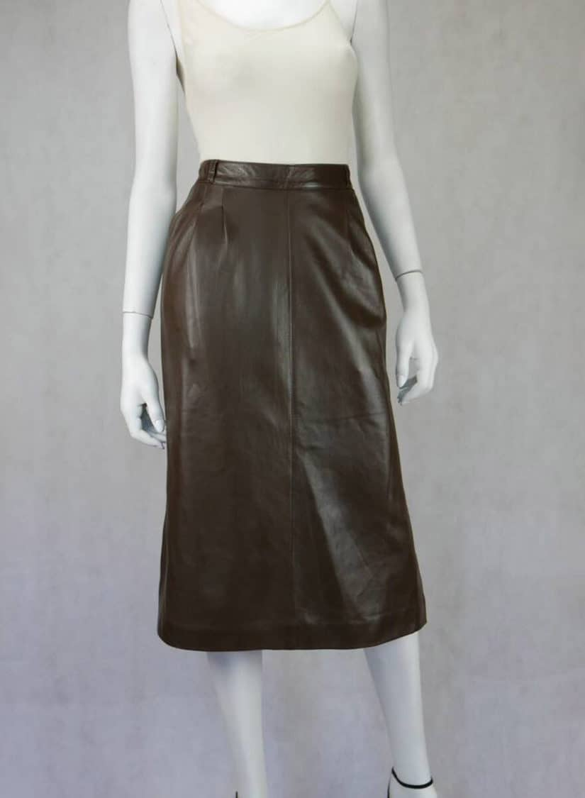 GUCCI LAMBS LEATHER SKIRT