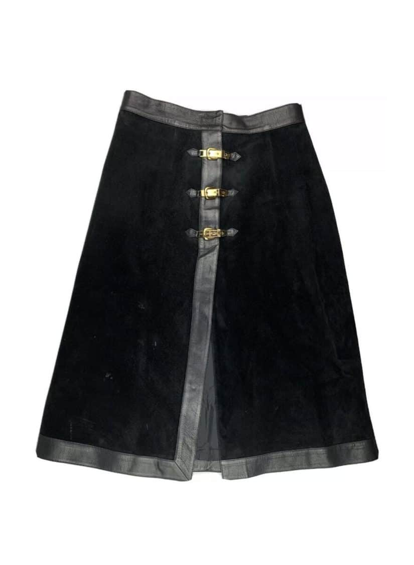 GUCCI LEATHER SUEDE SKIRT