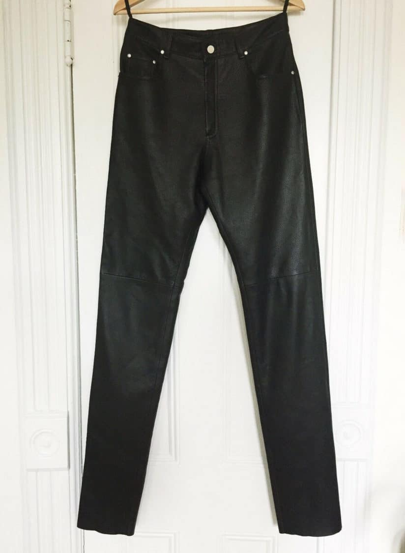 HERMES LEATHER PANT