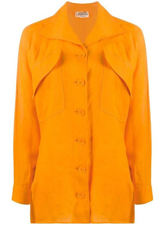 Hermès pre-owned oversized pockets shirt