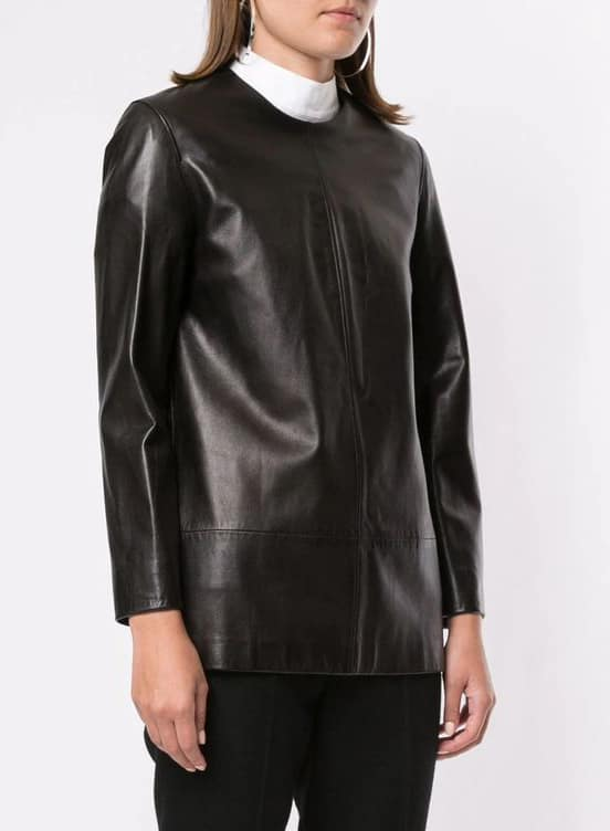 Hermès pre-owned straight leather blouse