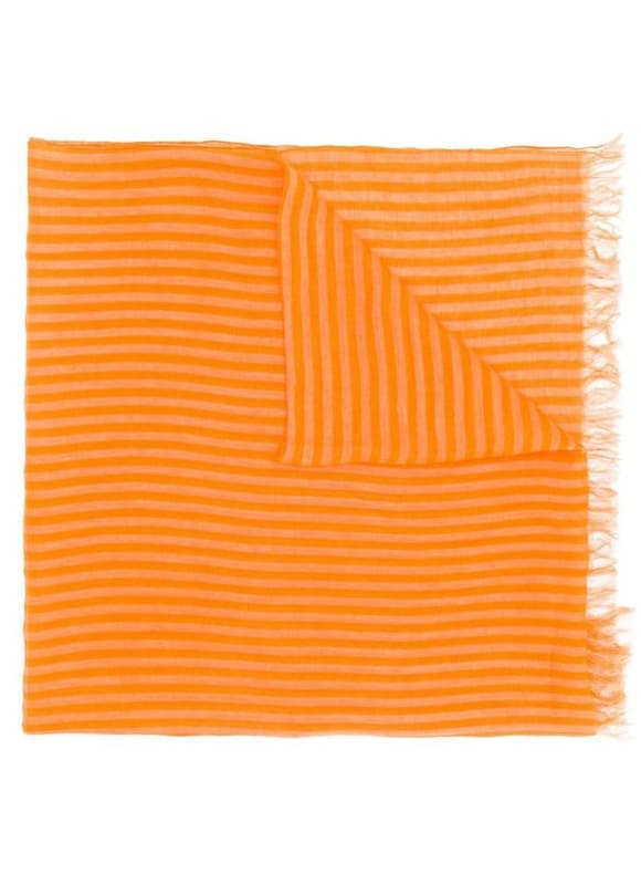 Issey Miyake Pre-Owned 1990'S Striped Frayed Scarf