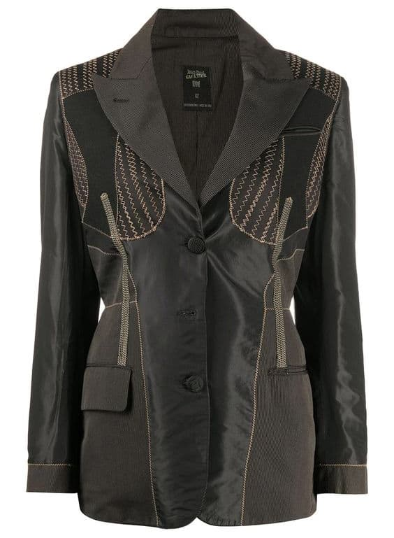 Jean Paul Gaultier Pre-Owned 1980s Zigzag Stitching Jacket