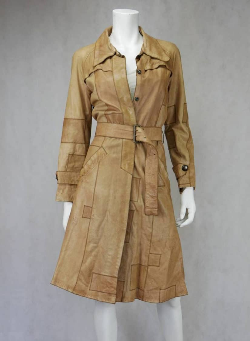 PATCHWORK LEATHER TRENCH