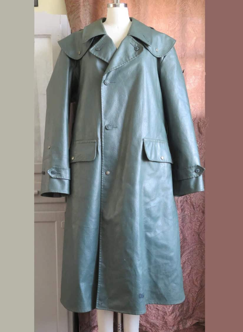 SWISS MILITARY FAUX LEATHER TRENCH
