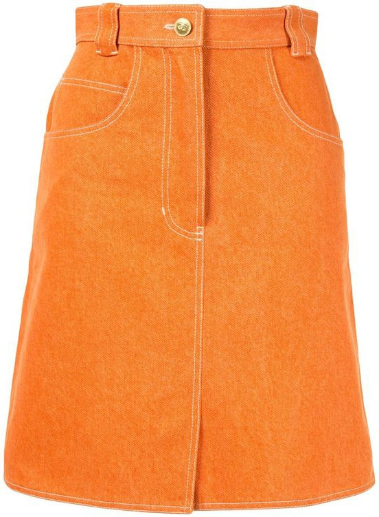 Shop orange Chanel Pre-Owned