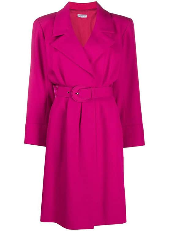 Yves Saint Laurent Pre-Owned Notched Collar Dress