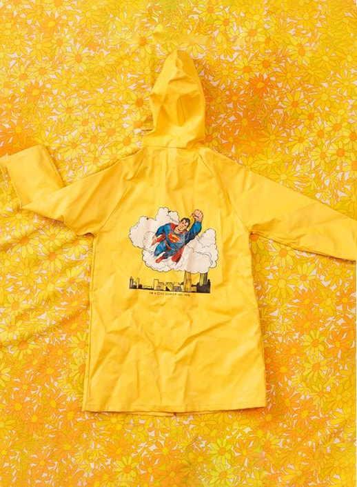 YELLOW SUPERMAN RAINCOAT