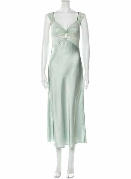 VALENTINO VINTAGE LACE TRIM NIGHTGOWN