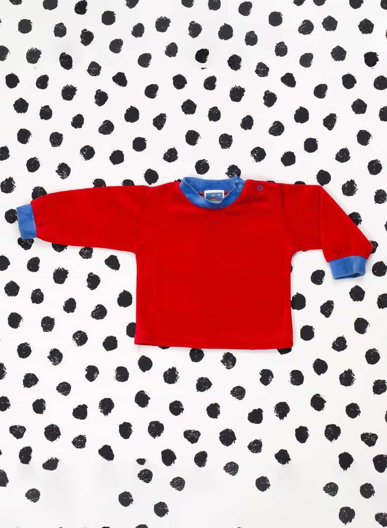 90S BABY RED VELVET SWEATER