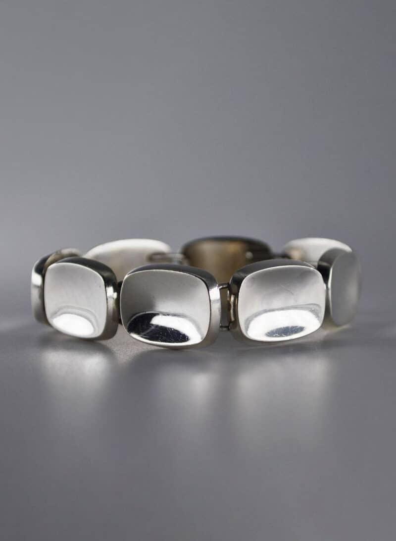 Bent Knudsen, Mid-Century Modernist Sterling Silver Bracelet, No