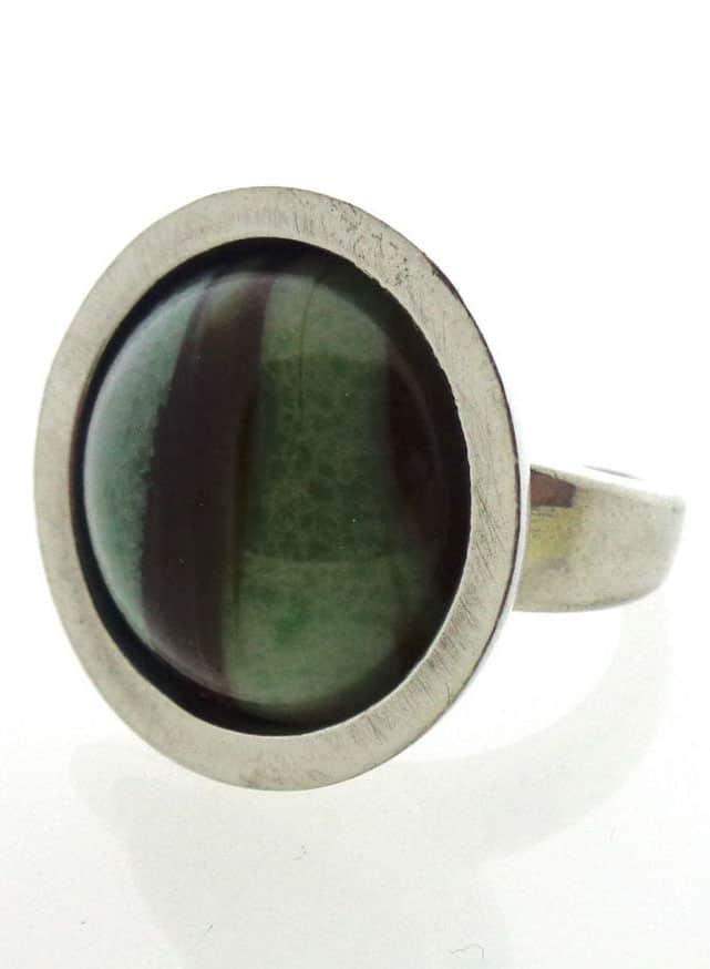 Bent Larsen design - ring with agate stone