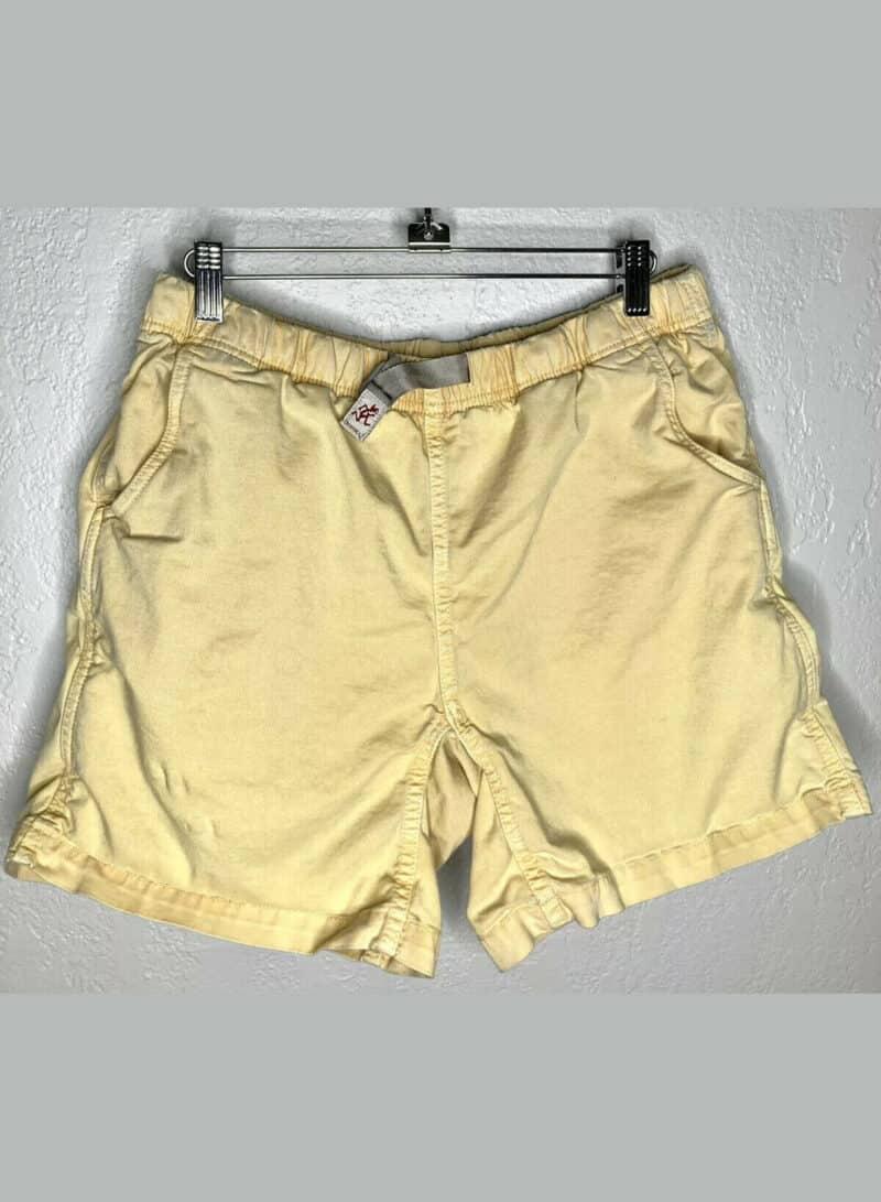 Gramicci Vintage G Series Yellow Women's Med Mens Sm Elastic Waist Cotton Hiking