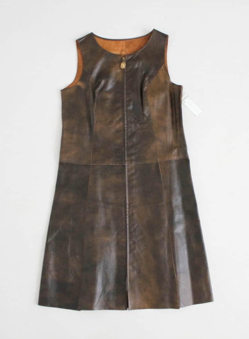 LEATHER ZIP DRESS