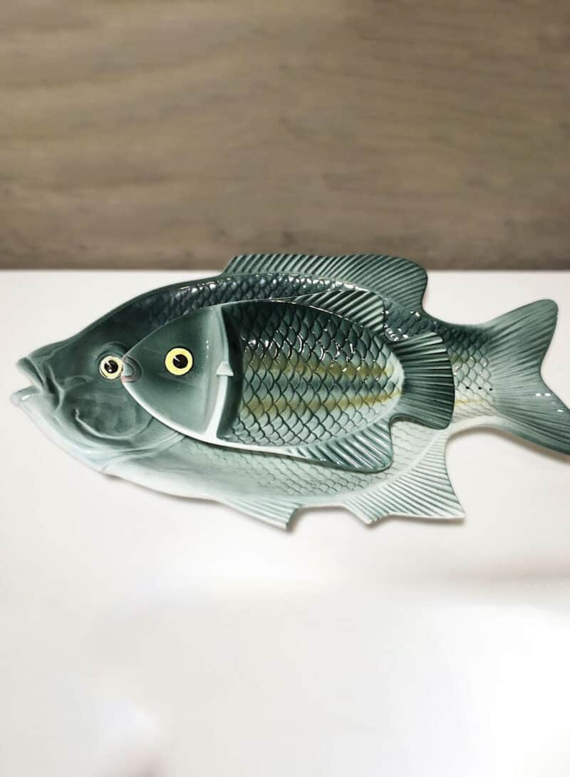 MCM Ucagco ceramic Japan Fish Decorative Plates Platters
