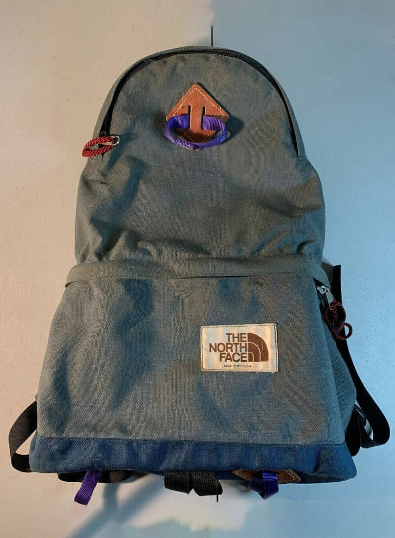 North Face Tear Drop Day Pack Backpack Northface Gray Blue USA