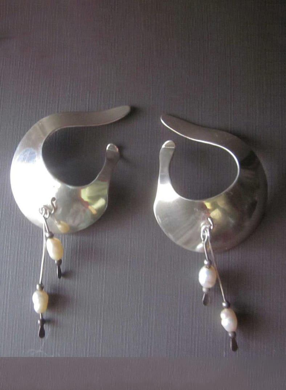 Pearl Drops Earrings, Ear Cuffs, Sling Earrings
