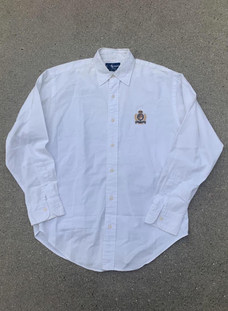 Ralph Lauren Made in Hong Kong White Vintage Cotton