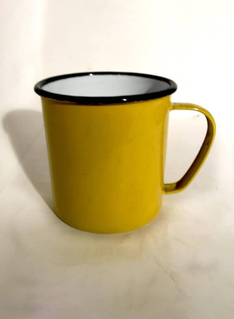Retro Enamel Japanese Tea Mug - Marked Asabi Japan
