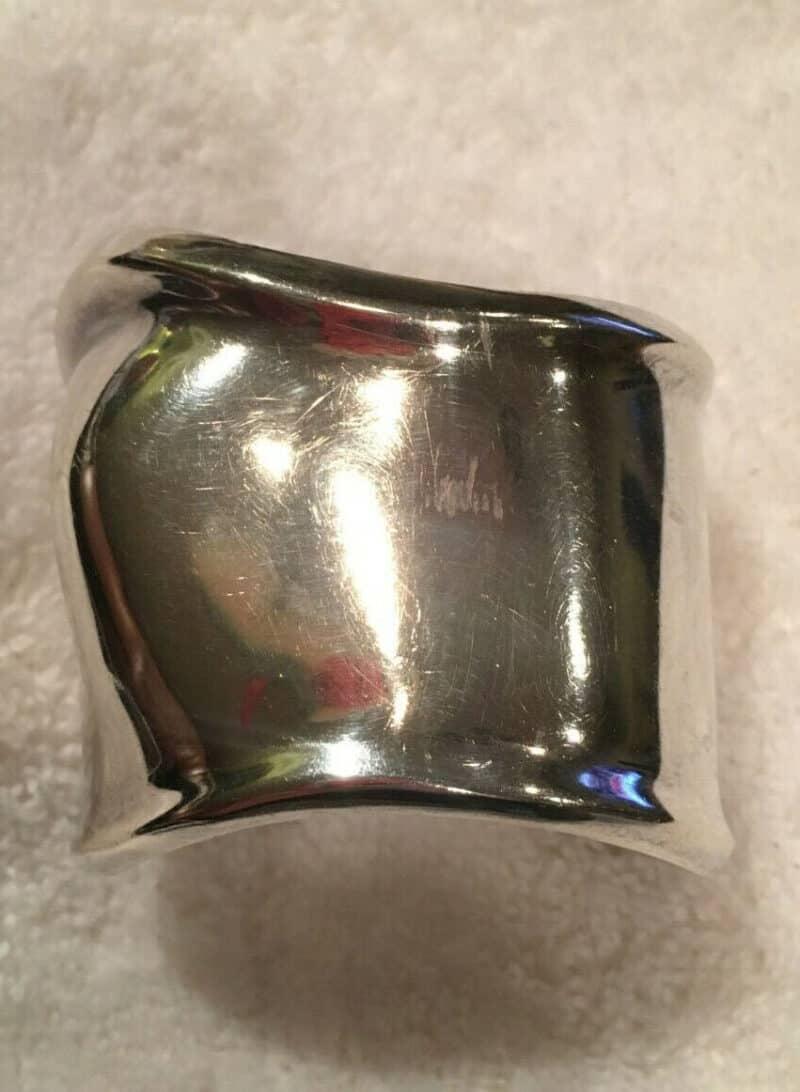 Tiffany & Co Sterling Silver 925 Elsa Peretti Bone Cuff Bracelet - LEFT WRIST
