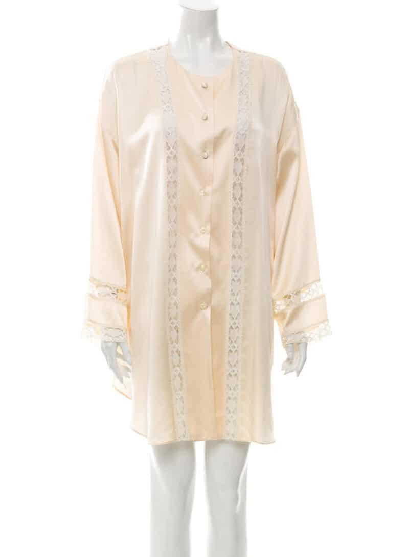 VALENTINO Vintage Silk Pajamas Cream