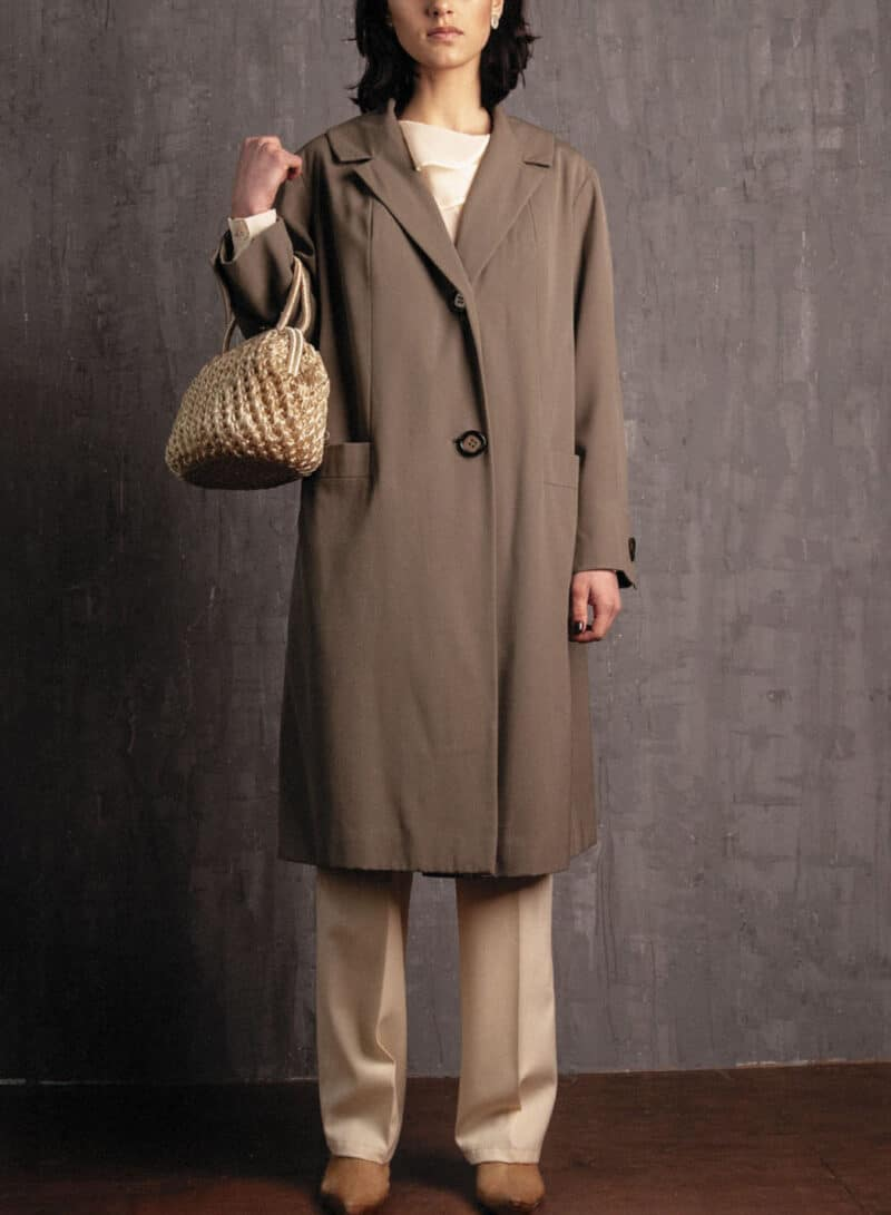 VINTAGE GREEN TRENCH