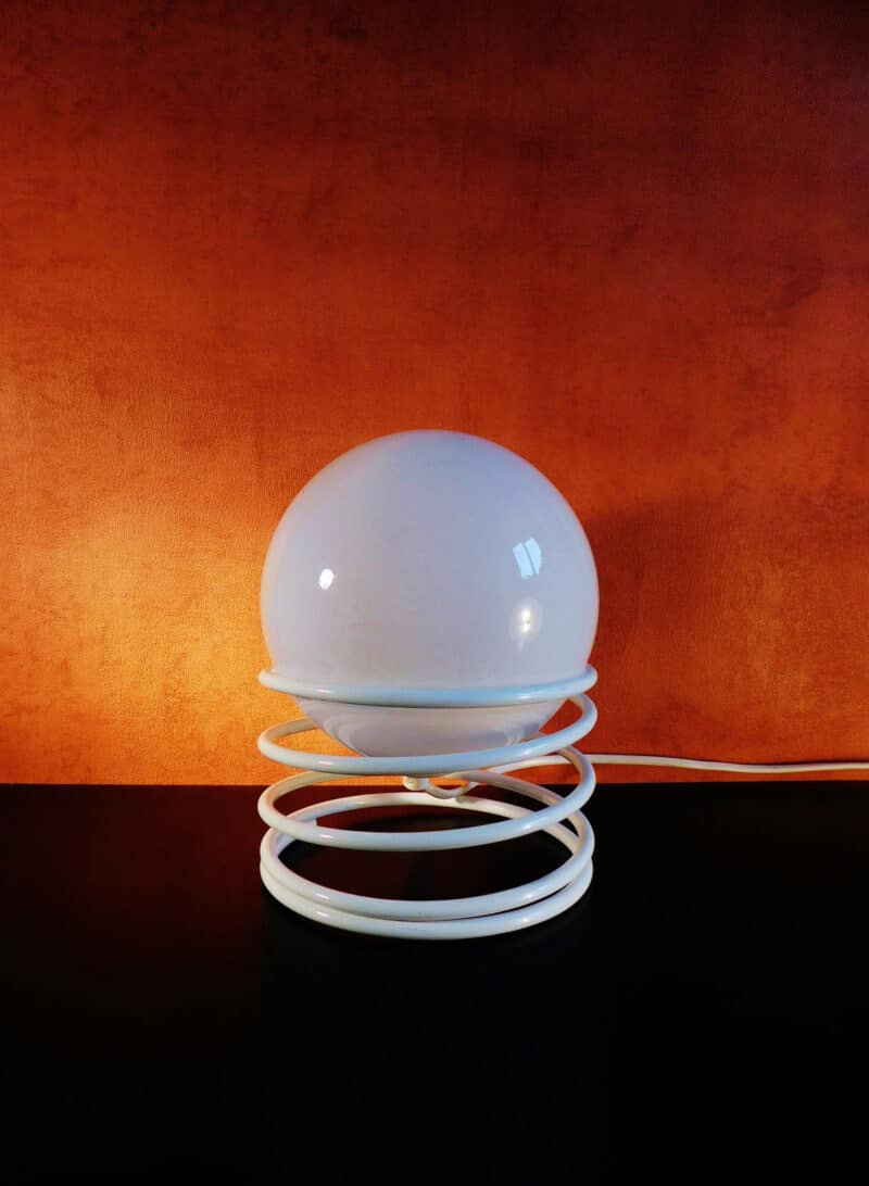 VINTAGE Globe Sphere Spiral Table Light