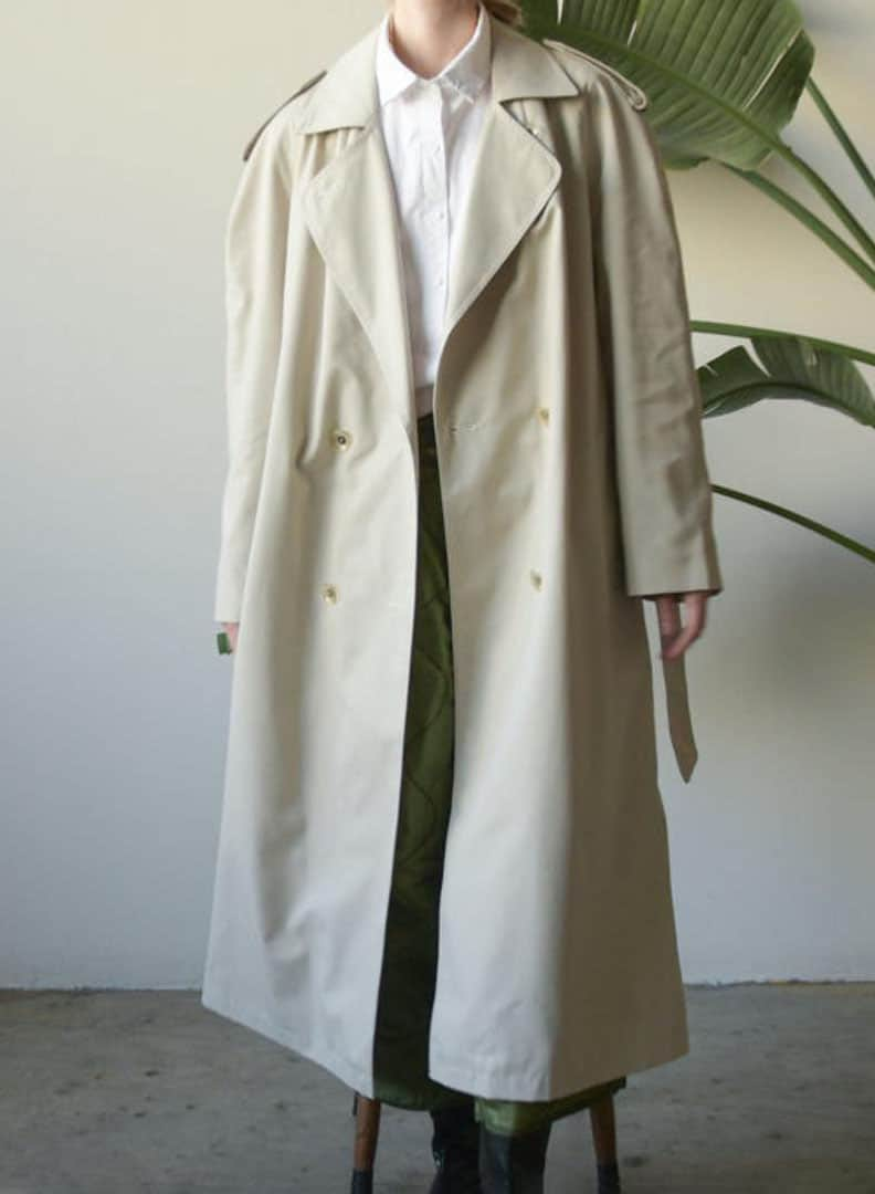 VINTAGE LARGE TRENCH