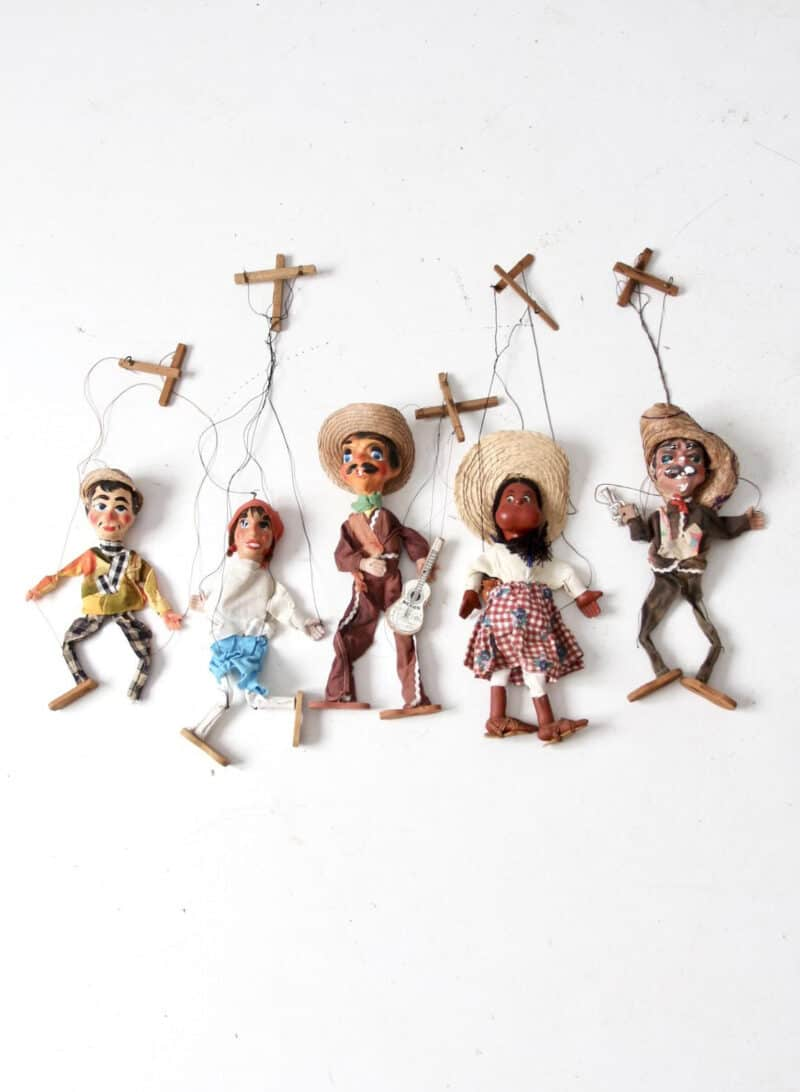 VINTAGE MEXICAN MARIONNETTE STRING PUPPETS
