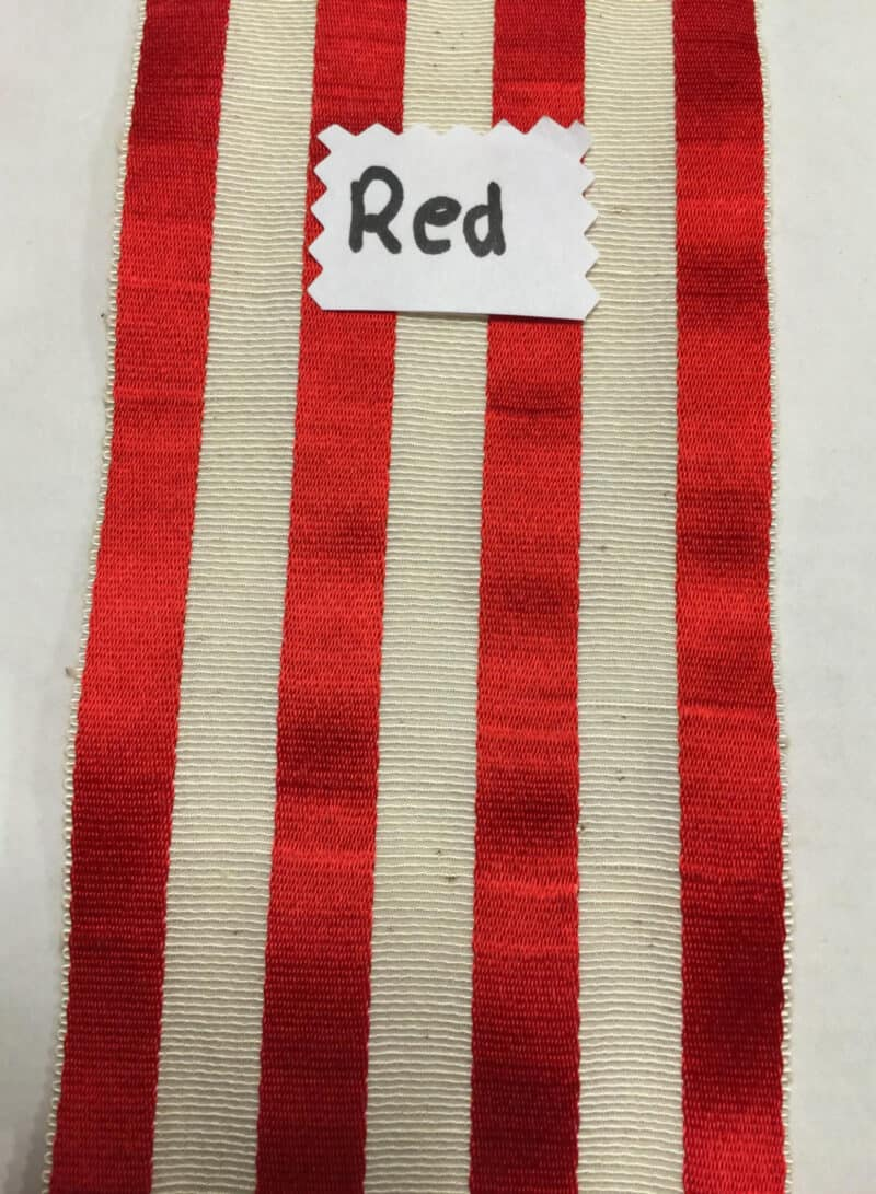 VINTAGE RED FRENCH RIBBON
