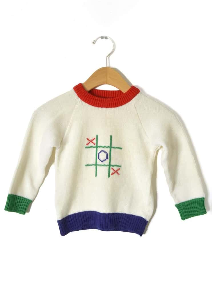 VINTAGE TIC TAC TOE SWEATER