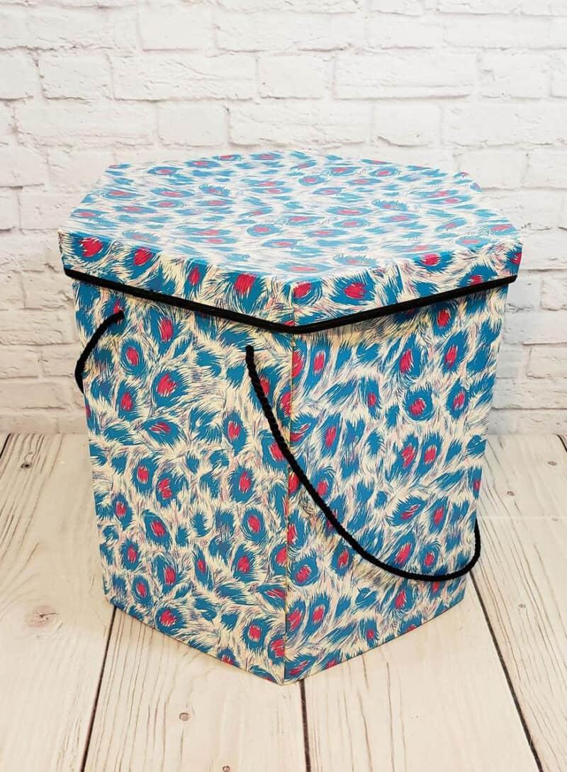 Vintage Blue Hat Box