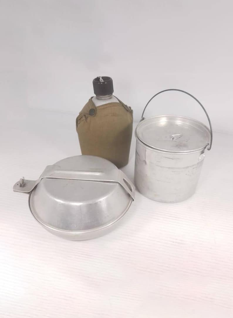 Vintage Japanese Aluminum Canteen and Aluminum