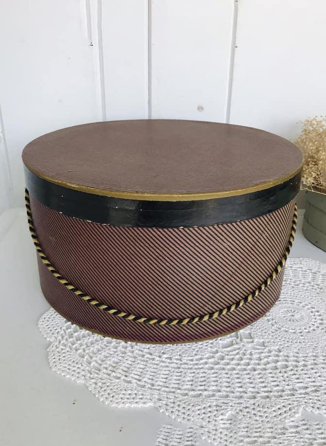 Vintage Striped Hat Box