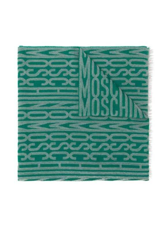 MOSCHINO GREEN SCARF