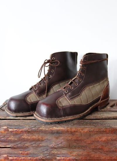 VINTAGE WW2 SWEDISH ARMY BROWN BOOTS