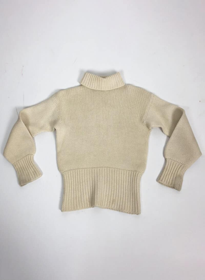 CREAM KNITTED TURTLENECK