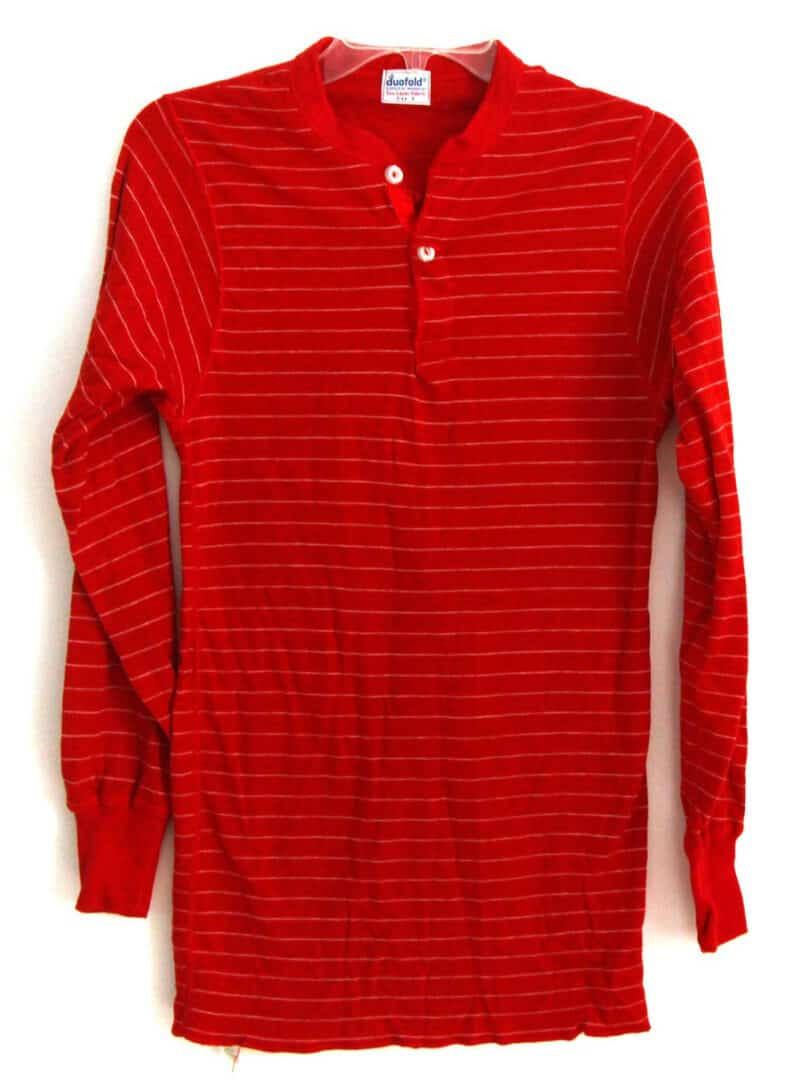 RED STRIPED LONG SLEEVE SHIRT
