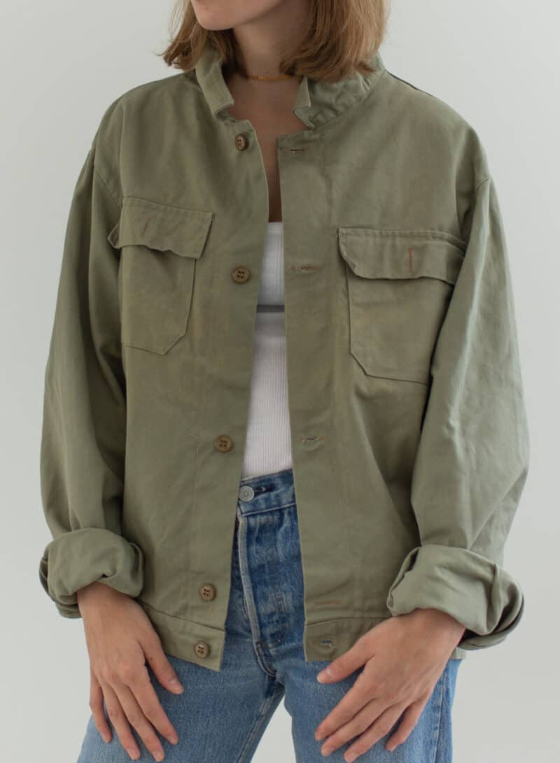 Imperfect Sage Green Two Pocket Work Jacket