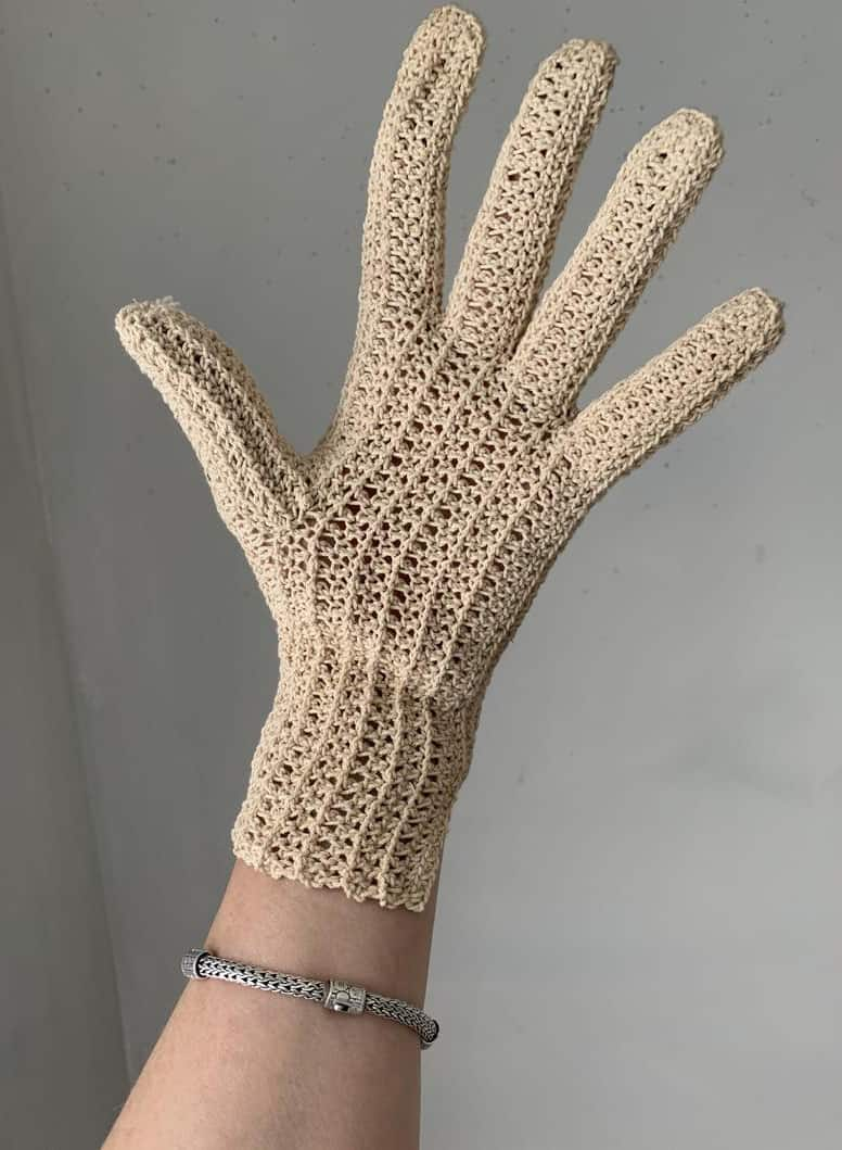 KNITTED FRENCH GARDENING GLOVES