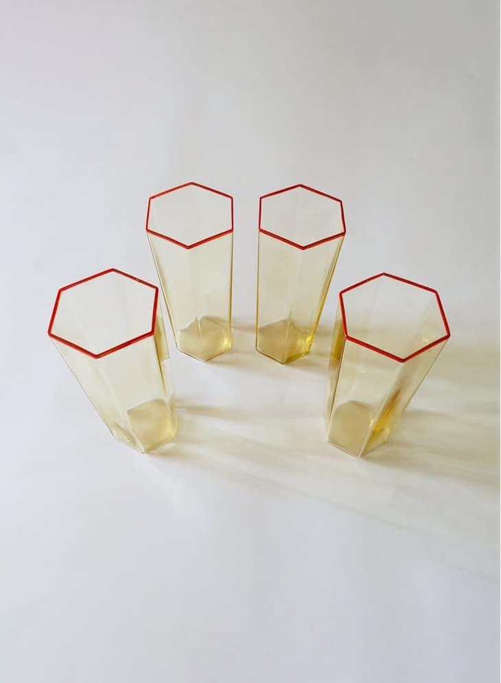 HEXAGON  GLASS CUPS