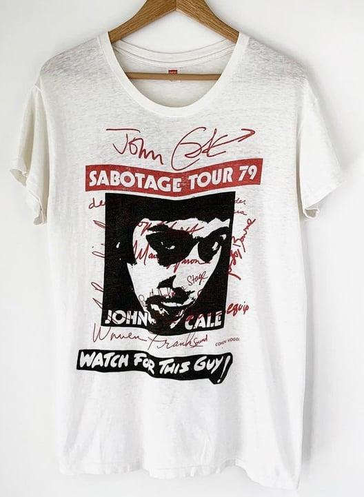 1979 John Cale Sabotage Tour Vintage Band Shirt Velvet Underground Lou Reed 70s