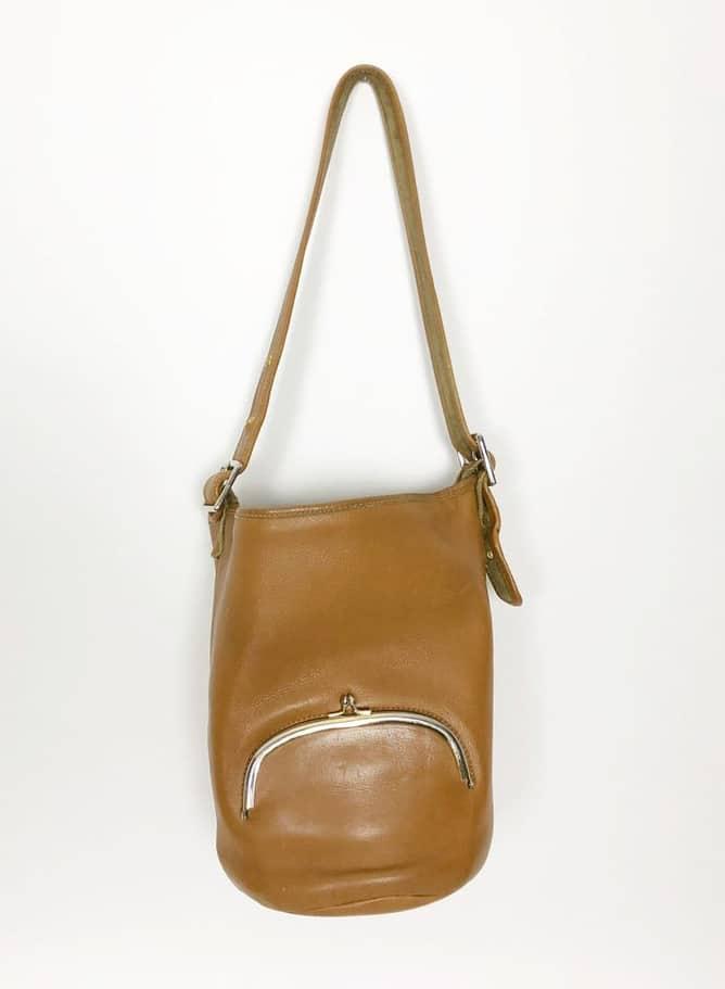 BONNIE CASHIN TAN BUCKET BAG